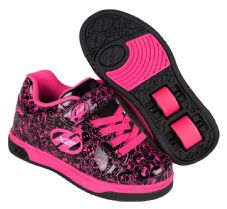 Heelys X2 Dual Up Black-Hot Pink-Graphic